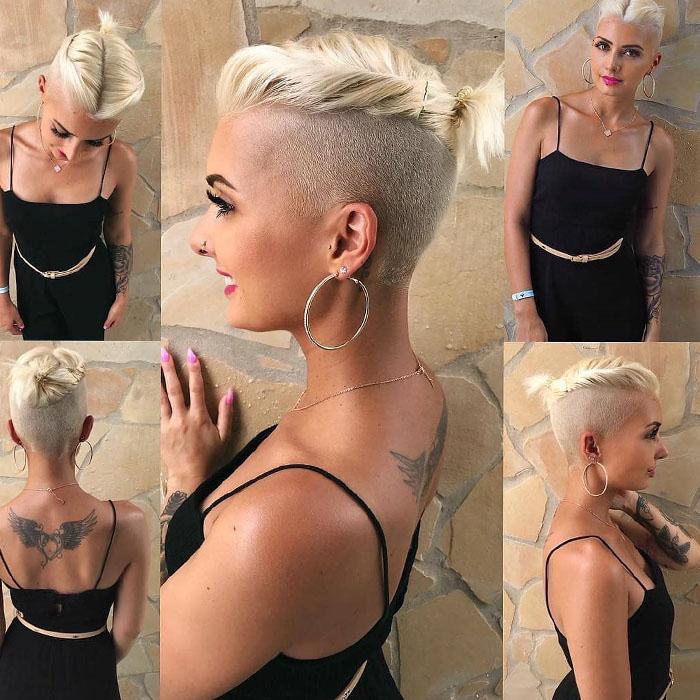 3-Gravierte-von-den-Seiten-graviert-von-hinten-blonde-exotische-Haare