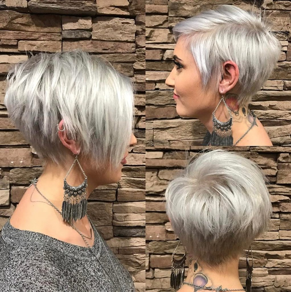 Farbe-Boden-Platinum-Kurzes-Haar