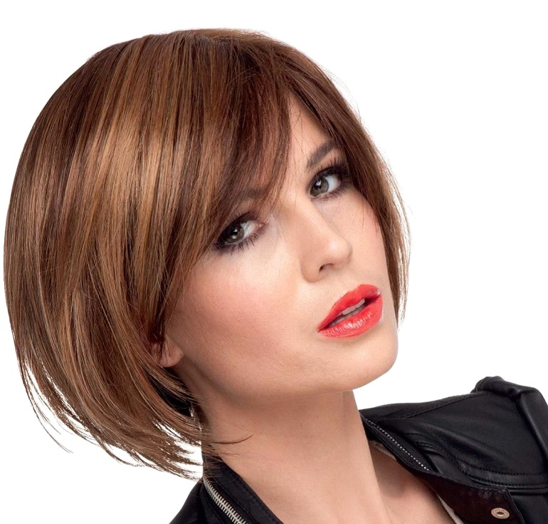 Nussschalenfarbe-Kurzes-Haarmodell